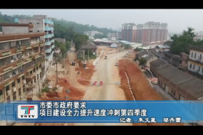 市委市政府要求项目建设全力提升速度冲刺第四季度