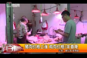 猪肉价格上涨 鸡肉价格3年首降