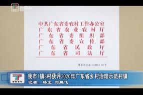我市1镇8村获评2020年广东省乡村治理示范村镇