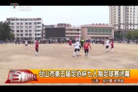 台山市第五届足协杯七人制足球赛闭幕