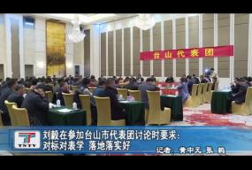 刘毅在参加台山市代表团讨论时要求:对标对表学 落地落实做