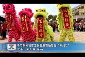 """春节期间我市文化旅游市场实现""""开门红"""""""
