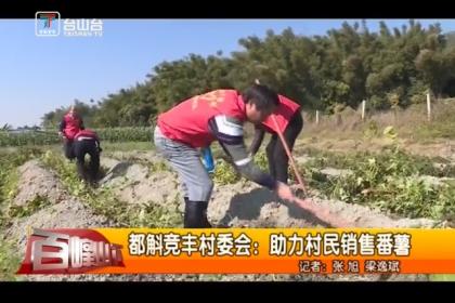 都斛竞丰村委会:助力村民销售番薯