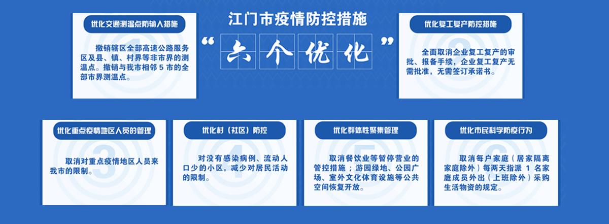 """江门市疫情防控措施""""六个 优化"""""""