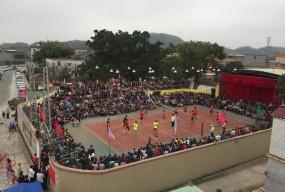 举办春节排球赛  丰富村民文体活动