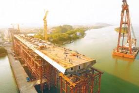 好消息!备受关注的南沙港铁路跨西江特大桥最新进展来啦!