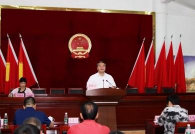 李惠文以市人大代表身份到深井镇向选民述职