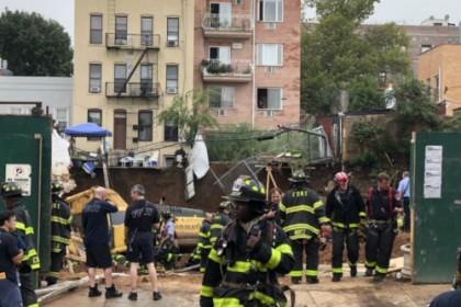 纽约布鲁克林华社工地塌方 6人受伤1人下落不明