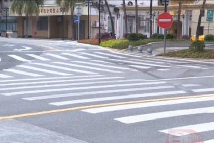 台城南门路和双亭街T字路口的交通标线混乱 市民望整改