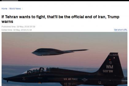 """""""不想打仗""""的特朗普突然向伊朗发""""战争威胁"""""""