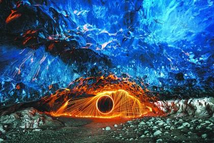 欧洲第二大 冰岛冰川公园冰与火的奇观