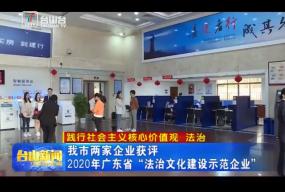 """我市两家企业获评 2020年广东省""""法治文化建设示范企业"""""""