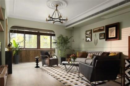 140㎡的3室2厅,灰绿色打造浪漫怀旧大宅